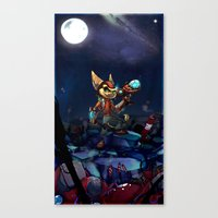 heroes Canvas Prints featuring Heroes by Viivi K