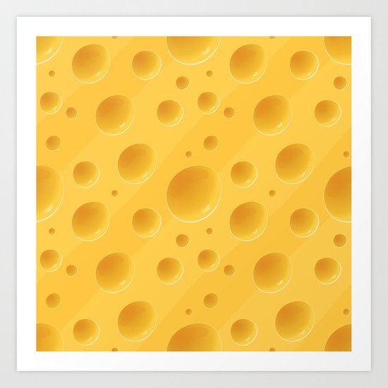 Orange Cheese Texture - Food Pattern Art Print