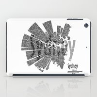 sydney iPad Cases featuring Sydney by Shirt Urbanization