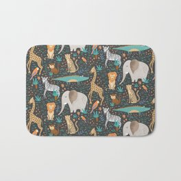 Into the Jungle - Gray Bath Mat