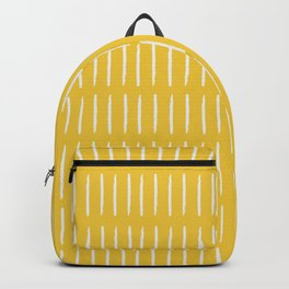 Line Dashes (white on yellow) Backpack