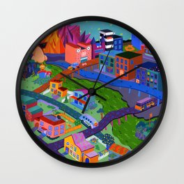 Local Flavor Wall Clock