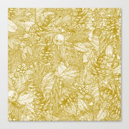 forest floor gold ivory Canvas Print