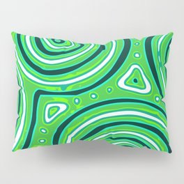 Green round shapes Pillow Sham