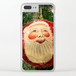 Here Comes Santa Claus Clear iPhone Case