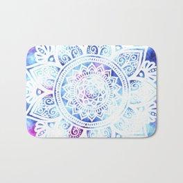 Purple and Blue Tied-Dye Mandala - LaurensColour Bath Mat