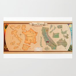 World of Wine Map Rug