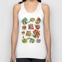 stickers Tank Tops featuring Smashed Bros. by Josh Ln