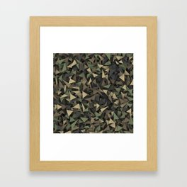 Triangle camouflage Framed Art Print