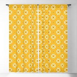 Daisy stitch - yellow Blackout Curtain