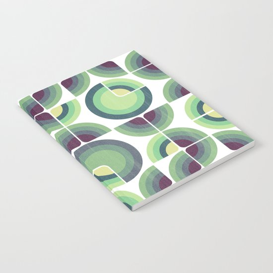 Green Fields Pattern Notebook