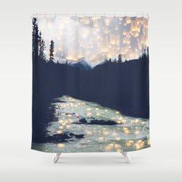 Make a wish -Yoho National park Shower Curtain