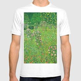 "Gustav Klimt ""Orchard With Roses"" T-shirt"
