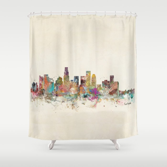 Los Angeles California Shower Curtain By Bribuckley