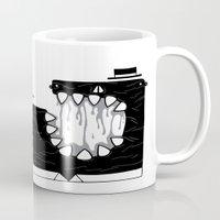 boss Mugs featuring Zombie Boss by woestknap