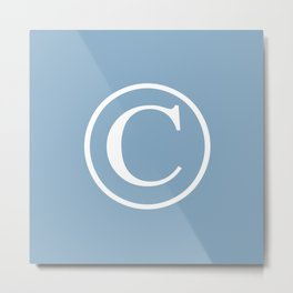 Copyright sign on placid blue background Metal Print