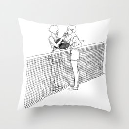 Tennis Gals Throw Pillow