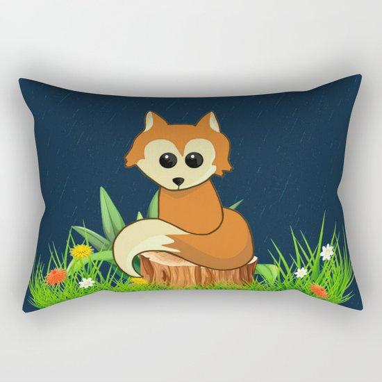 Fox Pose Rectangular Pillow