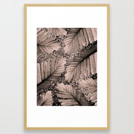 Banana Leaves Glitter Glam #3 #shiny #tropical #decor #art #society6 Framed Art Print