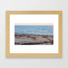 Beach Sand and water Framed Art Print