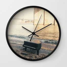 east river piano Wall Clock