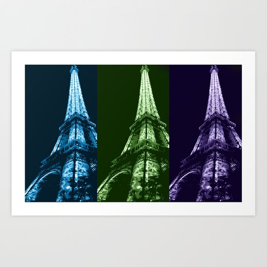 Triple tower Art Print