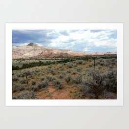 Mesas of New Mexico, on the Road from Chama to Santa Fe Art Print