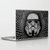 trooper Laptop & iPad Skins featuring Trooper Star Circle Wars by Msimioni