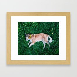 Soft Bed Framed Art Print