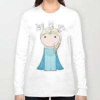 frozen elsa Long Sleeve T-shirts featuring Elsa: Frozen  by Jen Talley
