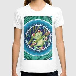 Green Tree Frog Mandala T-shirt