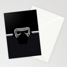 the new villain's helmet, kylo ren Stationery Cards