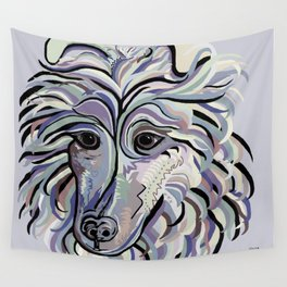 Collie in Denim Colors Wall Tapestry