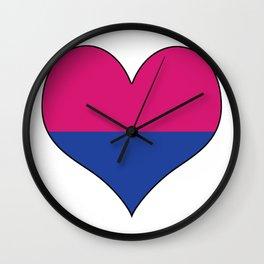 Gender Binary Heart Wall Clock