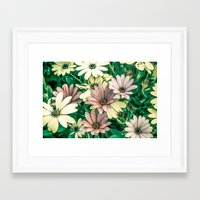 daisies Framed Art Prints featuring Daisies by Loredana:Flowers
