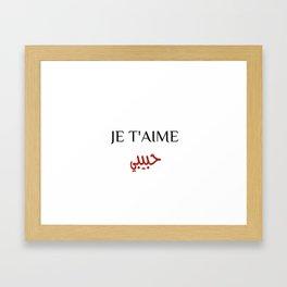 Je T'Aime Habibi Framed Art Print