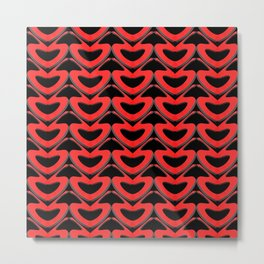 Abstract background in the form of hearts in love. Metal Print