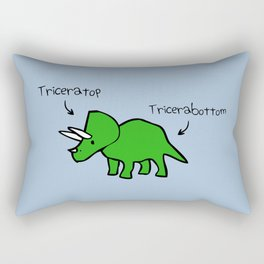 Triceratops Tricerabottom Rectangular Pillow
