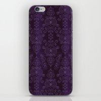 yankees iPhone & iPod Skins featuring Elena, Yankees blue ornate by EM | Surface Design