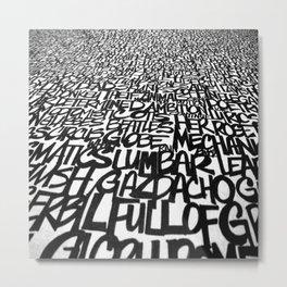 Upwords Metal Print