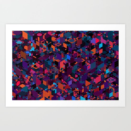 Panelscape: colours from Circles  Art Print