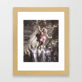 Fat Alien Jesus Framed Art Print