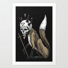 Kitsune Demon Fox Art Print