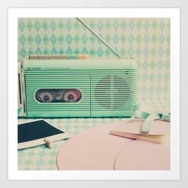 Retro Music Inspiration  Art Print