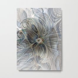 Deep and Chilled Fractoria Metal Print