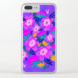 Nantucket Blooms Clear iPhone Case