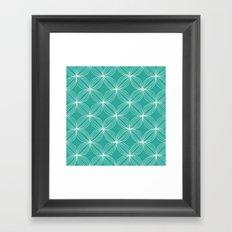 Star Pods - Aqua Framed Art Print