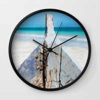 andreas preis Wall Clocks featuring CONTRAST by Catspaws