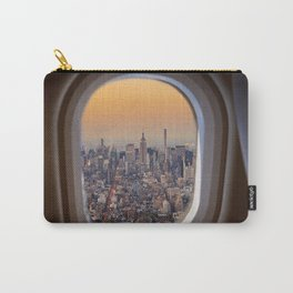 New York skyline from airplane window Carry-All Pouch