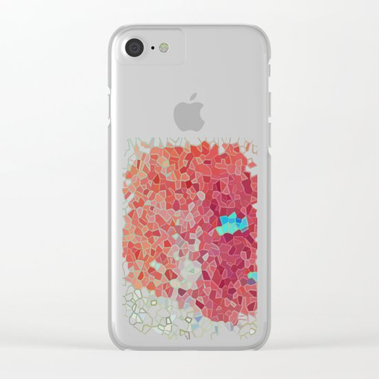 Blue Island Clear iPhone Case
